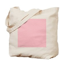 Chevron Pattern Pink with White Lines Tote Bag