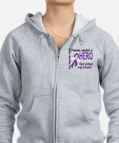 Pancreatic Cancer Heaven Needed Zip Hoodie