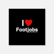 """Footjobs Square Sticker 3"""" x 3"""""""