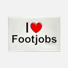 Footjobs Rectangle Magnet