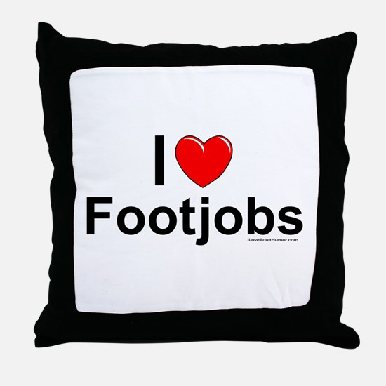 Footjobs Throw Pillow