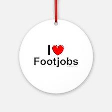 Footjobs Ornament (Round)