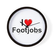 Footjobs Wall Clock