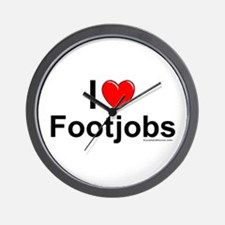 Footjobs Wall Clock