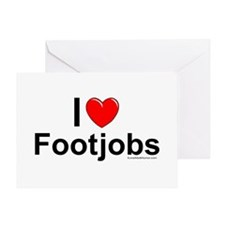 Footjobs Greeting Card