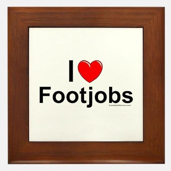 Footjobs Framed Tile