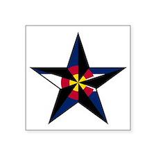 """Calirado Star Square Sticker 3"""" x 3"""""""