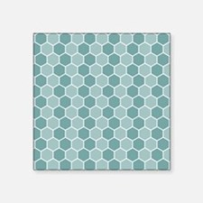 Hexagon Pattern Blues Sticker