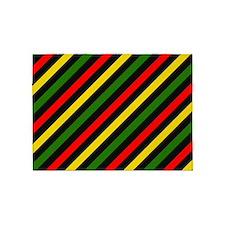 Reggae Stripes 5'x7'Area Rug