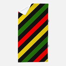 Reggae Stripes Beach Towel