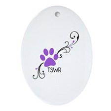 TSWR paw Oval Ornament