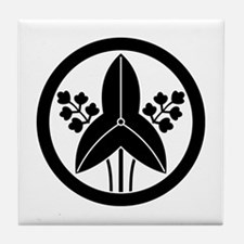 Standing arrowhead in circle Tile Coaster