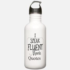 Cute Fluent in movie quotes Water Bottle
