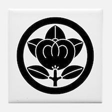 Mandarin orange in circle Tile Coaster