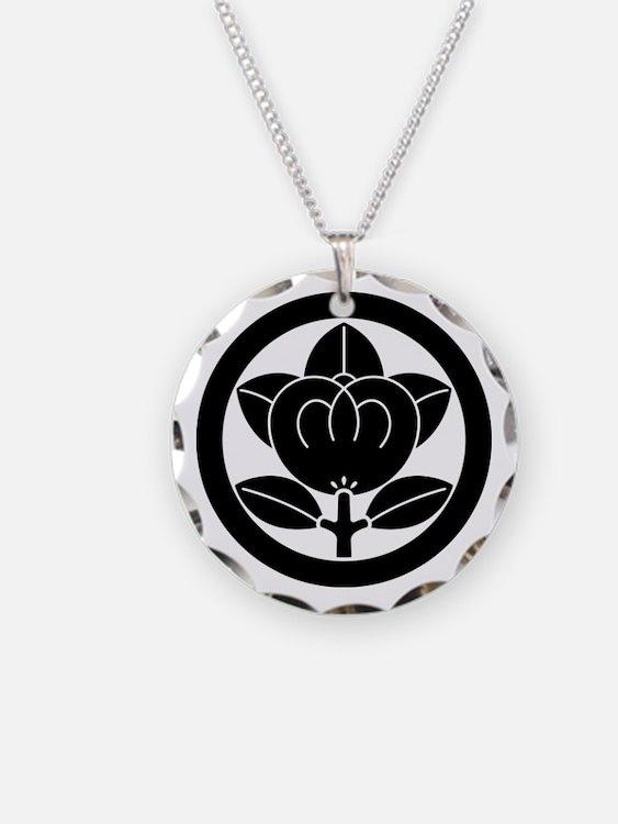 Mandarin orange in circle Necklace