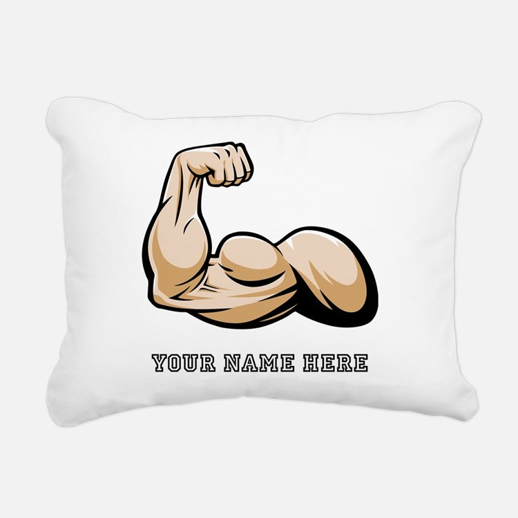 Custom Bicep Flex Rectangular Canvas Pillow