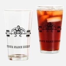 Custom Dead Lift Drinking Glass