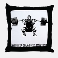 Custom Powerlifter Throw Pillow