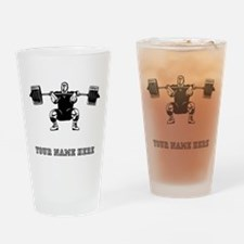 Custom Powerlifter Drinking Glass