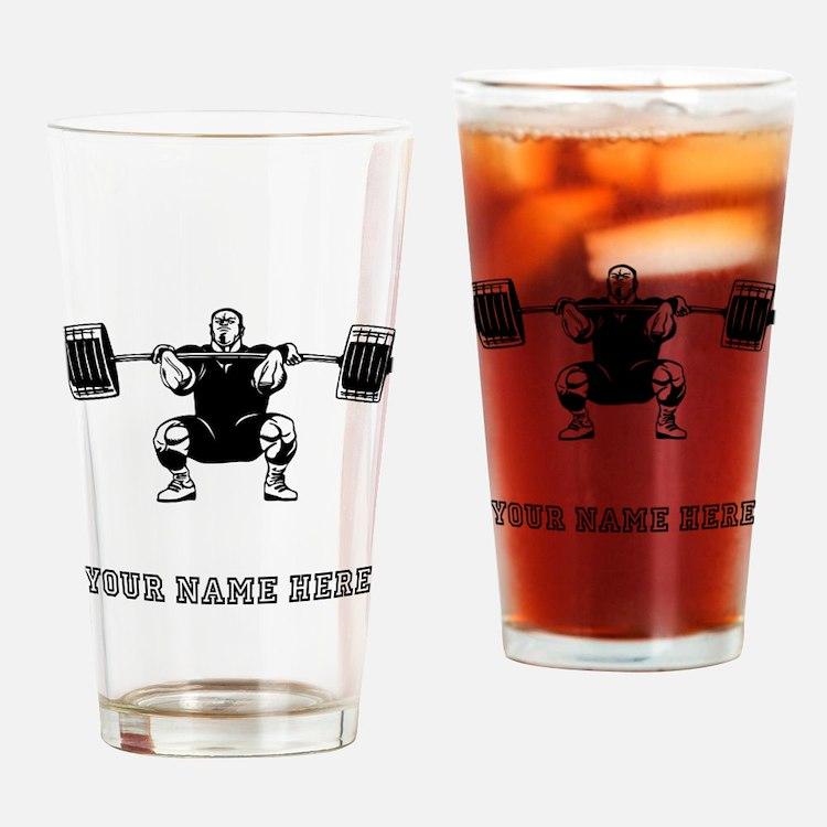Custom Powerlifter Drinking Glass