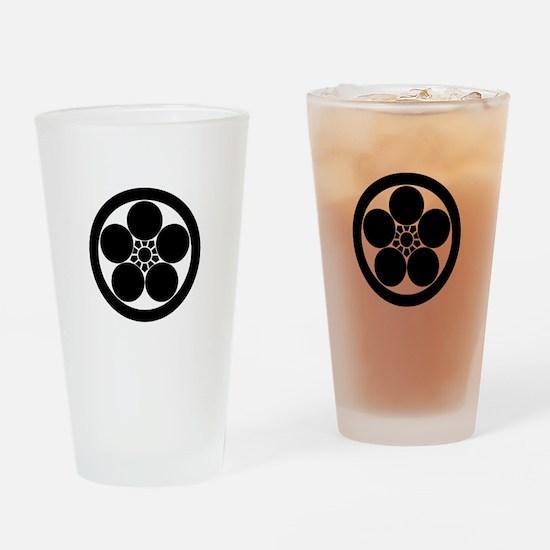 Umebachi-style plum blossom in circ Drinking Glass