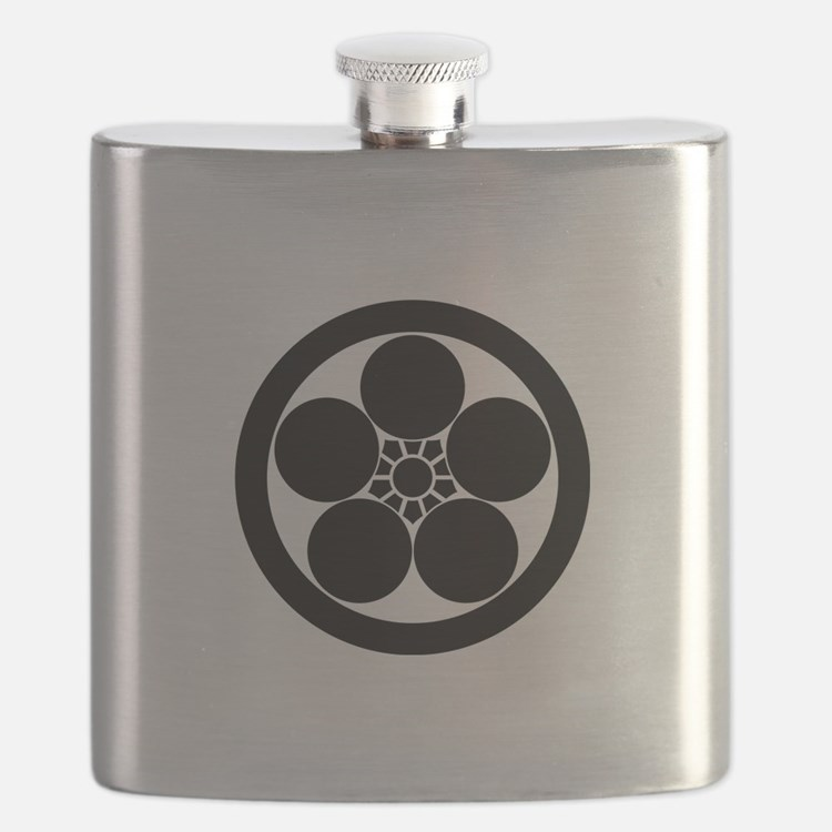 Umebachi-style plum blossom in circle Flask