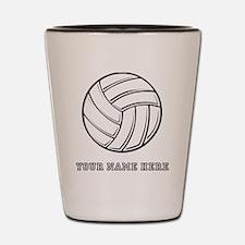 Custom Volleyball Shot Glass