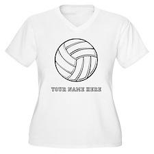 Custom Volleyball Plus Size T-Shirt