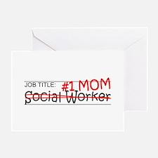 Job Mom Social Worker Greeting Card