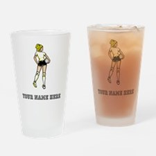 Custom Indoor Volleyball Player Drinking Glass