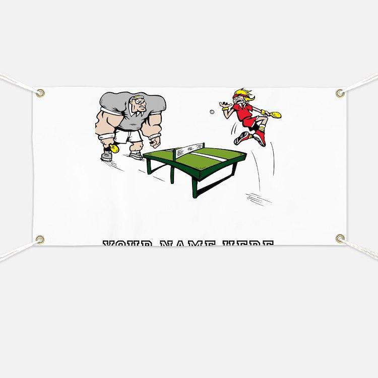 Custom Table Tennis Cartoon Banner