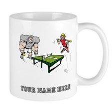 Custom Table Tennis Cartoon Mugs