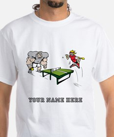 Custom Table Tennis Cartoon T-Shirt