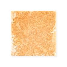 Vintage Floral Orange Sticker