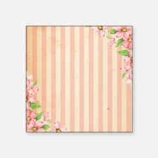 Pink & Cream Candy Stripes Sticker