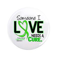 "Lyme Disease Needs a Cure 2 3.5"" Button"