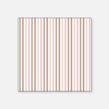 Pink & Chocolate Grey Candy Stripes Sticker