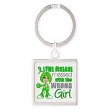 Lyme Disease MessedWithWrongGirl Square Keychain