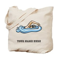 Custom Freestyle Swimmer Tote Bag