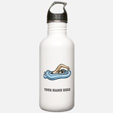 Custom Freestyle Swimmer Water Bottle