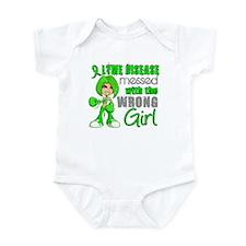 Lyme Disease MessedWithWrongGirl Infant Bodysuit