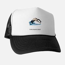Custom Backstroke Dive Trucker Hat