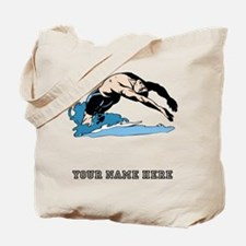 Custom Backstroke Dive Tote Bag