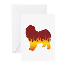 Lagotto Flames Greeting Cards (Pk of 10)