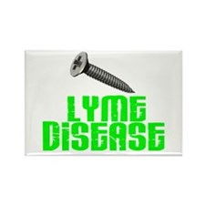 Screw Lyme Disease Rectangle Magnet