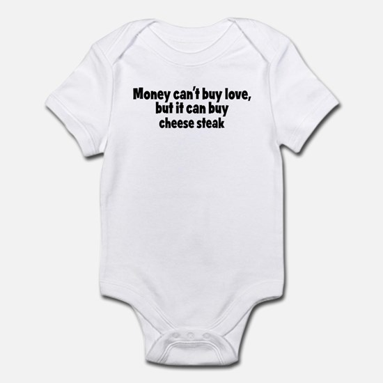 cheese steak (money) Infant Bodysuit