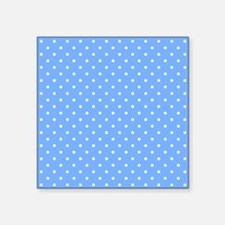 Polka Dot Pattern Small Blue Sticker