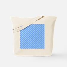 Polka Dot Pattern Small Blue Tote Bag