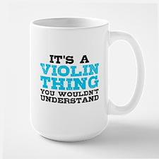 Violin Thing Large Mug