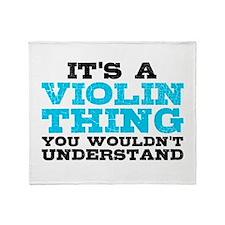 Violin Thing Throw Blanket